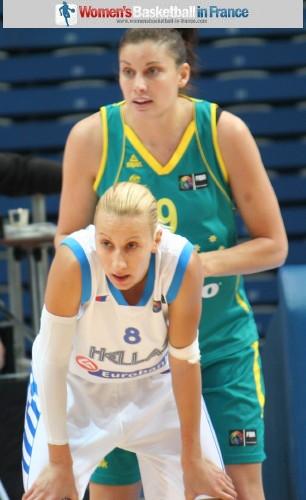 Styliani Kaltsidouans and Hollie Grima  ©  womensbasketball-in-france.com