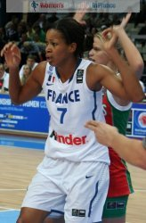 Marielle Amant playing against Belarus at the 2010 FIBA World Championships  © womensbasketball-in-france.com