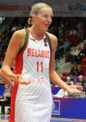 Yelena Leuchanka playing going to the smi-final of the  World Championship © womensbasketball-in-france.com