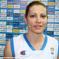 Evanthia Maltsi in Riga Latvia for EuroBasket WOmen 2009 ©womensbasketball-in-france