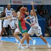 Nataliya Trafimava and Céline Dumerc at the 2010 FIBA World Championships  © womensbasketball-in-france.com