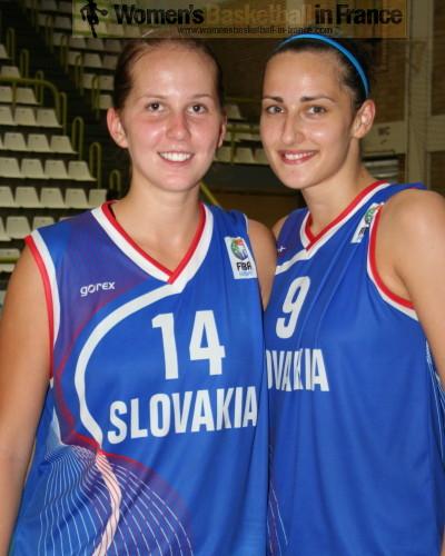 Maria Felixova and Klaudia Lukacovicová from Slovak Republic U20 in Macedonia © womensbasketball-in-france.com