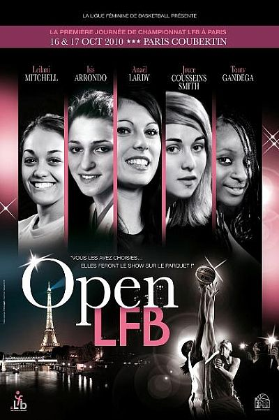 2010 Open LFB poster - Basket and the city  © LFB