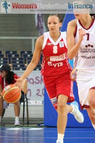 Elena Danilochkina at EuroBasket Women 2011 © womensbasketball-in-france.com