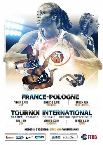 2012 International women's basketball match poster: France vs. Poland © FFBB