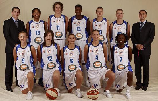 Lattes Montpellier 2009-2010 © Ligue Féminine de Basketball