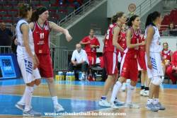 Greece and the Czech Republic players at EuroBasket Women 2009 in Latvia © womensbasketball-in-france.com