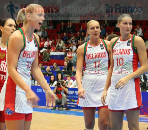 Tatyana Troina all fired up during in the quarter-final of the  World Championship © womensbasketball-in-france.com