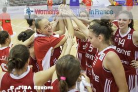 Turkey U18 players in the huddle in 2012