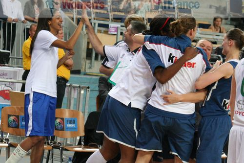 French players celebrating at EuroBasket Women 2011 ©  womensbasketball-in-frane.com