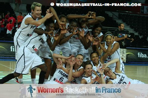 French Women's basketball team qualify for 2012 Olympics  ©  womensbasketball-in-france.com