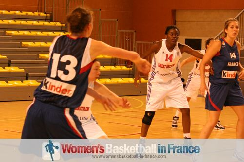 U20 Temple-sur-lot. France vs Great Britain 2011  © womensbasketball-in-france.com