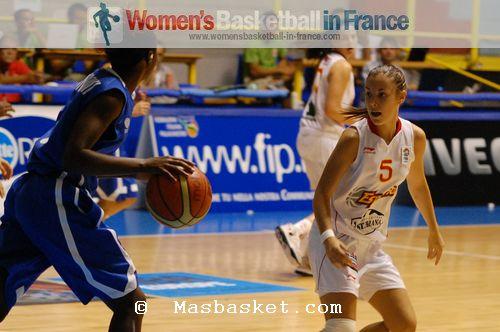 Bétengere Dinga-Mbomi and Yaiza Rodriguez   © Masbasket.com