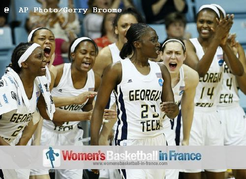 Tjasa Gortnar and Georgia Tech qualify for Sweet 16 ©  AP Photo/Gerry Broome