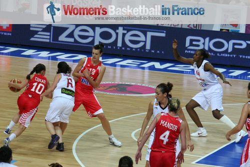 Spain vs Croatia at EuroBasket Women 2011 © womensbasketball-in-france.com