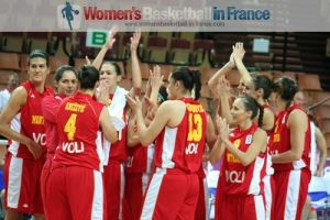 Montenegro on the way to EuroBasket Women 2011 quarter-final © womensbasketball-in-france.com
