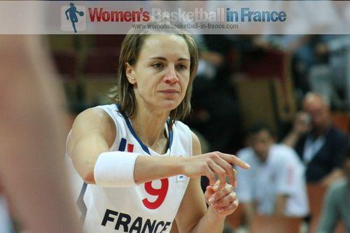 Céline Dumerc took a knock at EuroBasket Women 2011 © womensbasketball-in-france.com