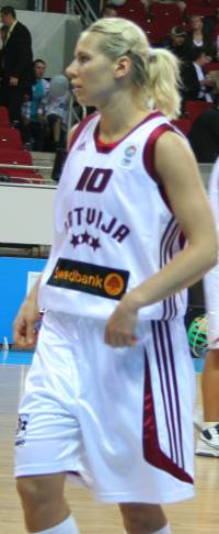 Anete Jekabsone-Zogota in Riga Latvia for EuroBasket WOmen 2009 ©womensbasketball-in-france