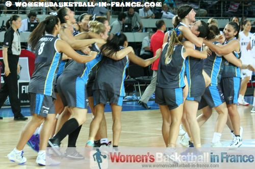 Argentina qualify for the quarter-final at the FIBA 2012 Olympic Qualifying Tournament for Women ©  womensbasketball-in-france.com