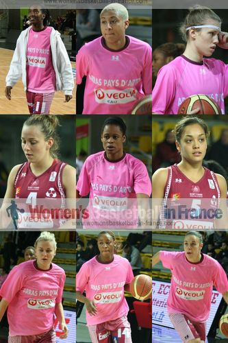 2012 - Professional basketball players for  Arras Pays d'Artois Basket Féminin ©  womensbasketball-in-france.com