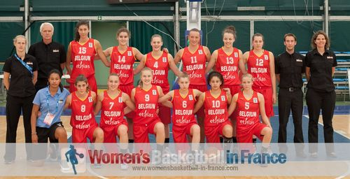 2013 Belgium U16 women's basketball team in Bulgaria