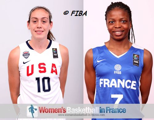 Breanna Stewart and Olivia Epoupa