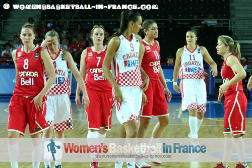 2012 FIBA Olympic Qualifying Tournament for Women: Croata against Canada ©  womensbasketball-in-france.com