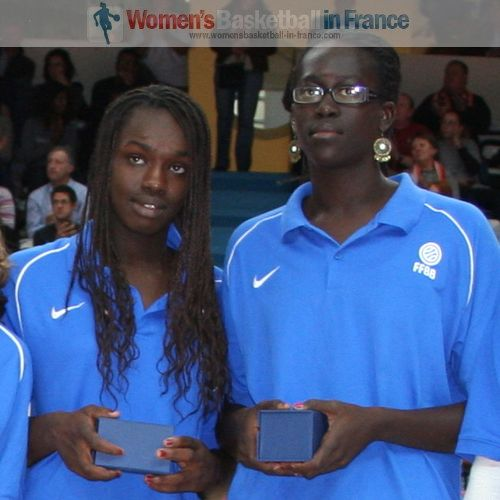 Clarince Djaldi Tabdia and Aby Gaye  © womensbasketball-in-france.com