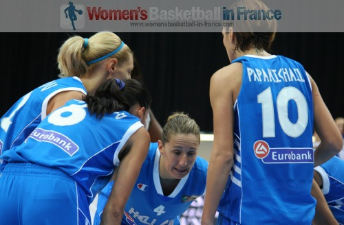Dimita Klentzou is the teqm captain © womensbasketball-in-france.com