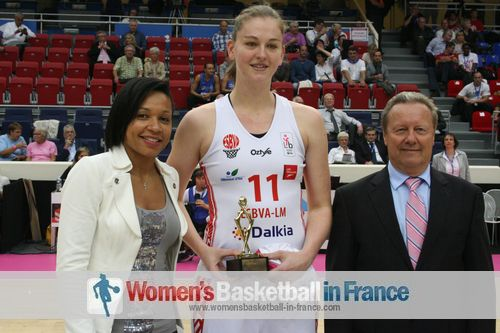 Emma Meesseman picks up LFB 2013 young player of year award