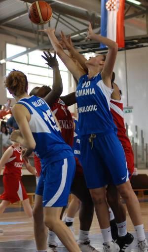 England and  Romania play basketball Eilat © ITSports Limor Noah