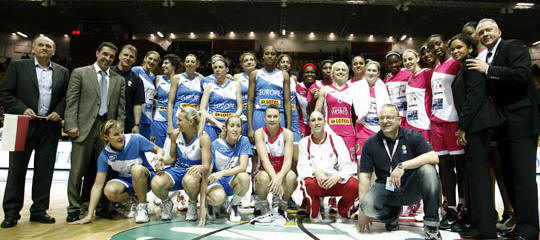 FIBA Europe EuroLeague Women 2010 All Star Game teams ©  Wojtek Figurski