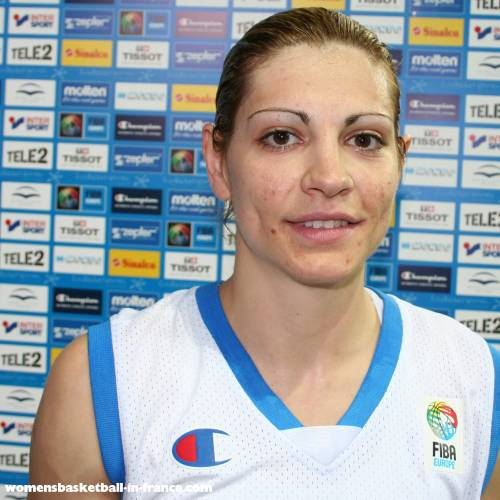 Evanthia Maltsi in Riga Latvia for EuroBasket WOmen 2009 ©womensbasketball-in-france
