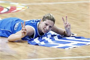 Evanthia Maltsi at the EuroBasket women 2009 semi-final ©  Agenzia Ciamillo-Castoria/E.Castoria