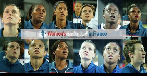 2012 FIBA Olympic Qualifying Tournament for Women: French players looking up ©  womensbasketball-in-france.com