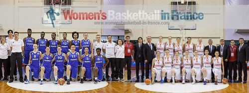 France and Turkey U20 European Championship Division A official team pictures