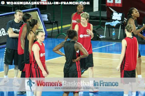 2012 FIBA Olympic Qualifying Tournament for Women: French players in training ©  womensbasketball-in-france.com
