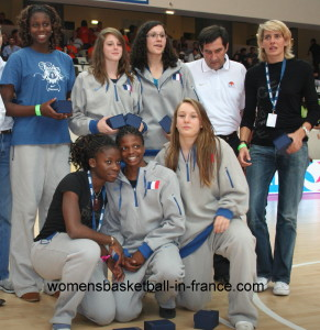 Cathy Melain and France U16 at Basket and the City 2009 © womensbasketball-in-france.com