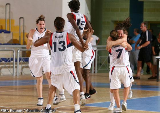 France qualify for U20 women final in 2008  © FIBA Europe