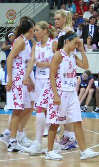 Russian playing the final of EuroBasket Women 2009 © Womensbasketball-in-france.com