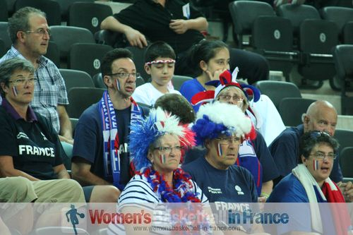 French Supporters Club at FIBA 2012 Olympic Qualifying Tournament for Women ©  womensbasketball-in-france.com