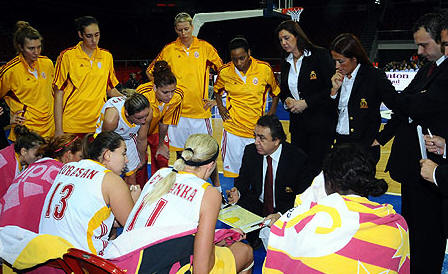 EuroLeague Women time-out for Galatasaray © FIBA Europe