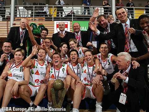 EuroLeague Women 2006 Winners Gambrinus Sika Brno