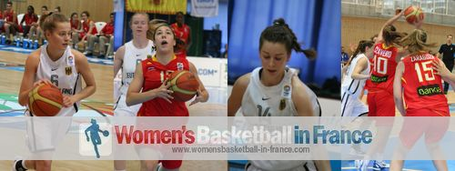 Germany and Spain  U16 in Miskolc © womensbasketball-in-france.com