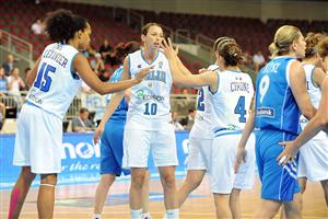 Laure Macchi playing at the EuroBasket women 2009 semi-final ©  Agenzia Ciamillo-Castoria/E.Castoria
