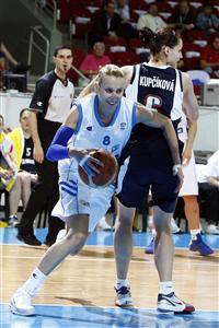 Styliani Kaltsidou playing for Greece at EuroBasket Women 2009 © Agenzia Ciamillo-Castoria/E.Castoria