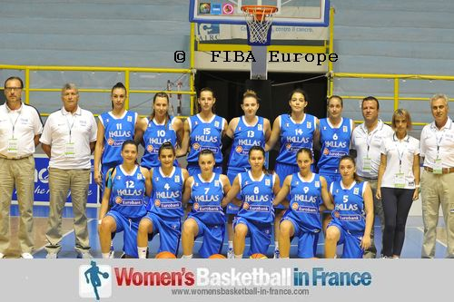 Greece U16 women basketball team 2011    © FIBA Europe