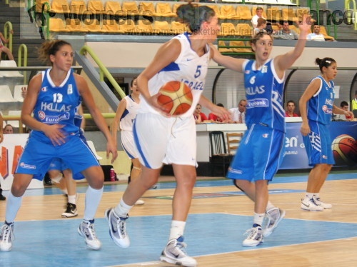 Greece U20 against Israel U20 in Macedonia © womensbasketball-in-france.com