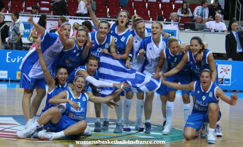 Greece finish fifth EuroBasket women 2009 with a win © Womensbasketball-in-france.com