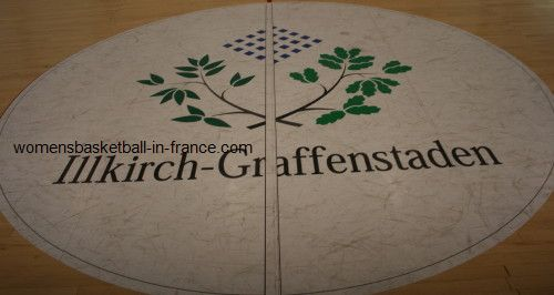 centre circle at Illkirch-Graffenstaden © womenbasketball-in-france.com
